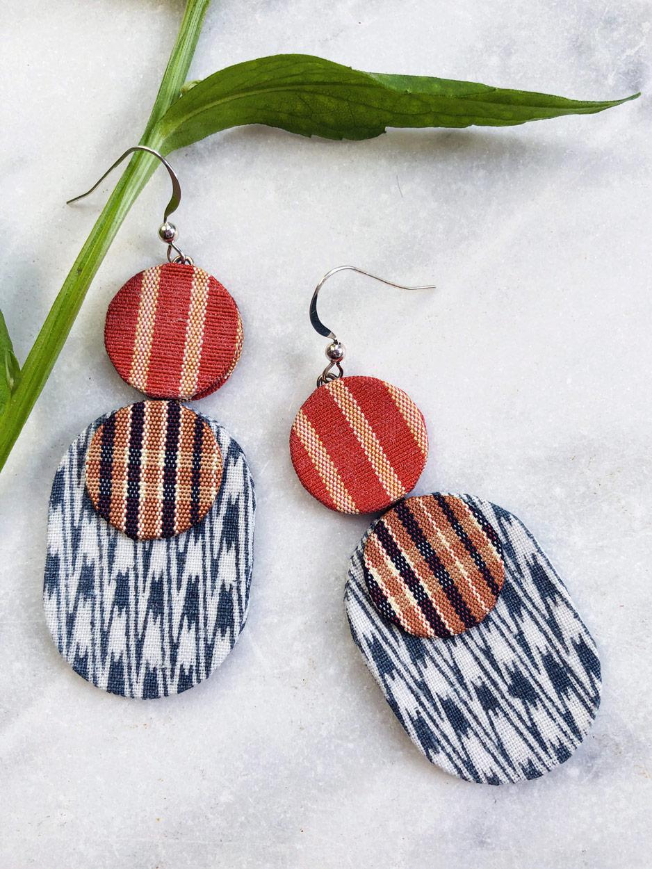 boucles-d-oreilles-ikat-soie-kimono-ancien-fait-main-bijoux-textile-Hangel