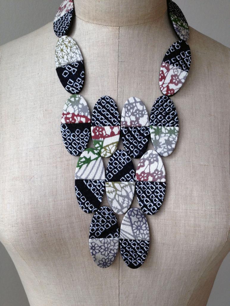 collier-domino-bijou-textile-artisanat-Carouge-Geneve-Recycler