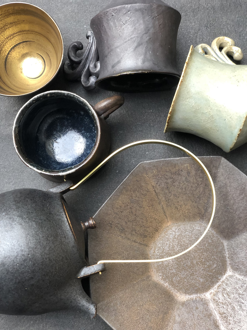 Comtemporary-ceramics-japanese-ceramic-Shinobu-Hashimoto-tomoko-Iwata-galerie-h-Geneva-Carouge