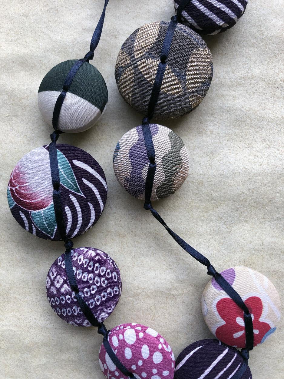 Necklace-Hiroko-silk-kimono-antique-gift-handmade-craft-Hangel-Valerie-Geneva