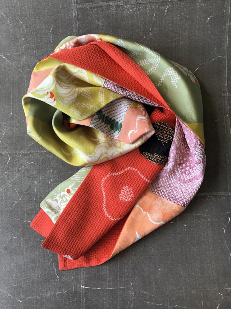 Scarf-fashion-handmade-kimono-vintage-Hangel-galerie-h-geneva