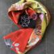 Scarf-vintage-textile-kimono-silk-patchwork-handmade-piece-unique-Valerie-Hangel-Galerie-h-Geneva