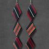 boucle-oreille-losange-bijoux-textiles-soie-cravate-creation-unique-galerie-h-geneve
