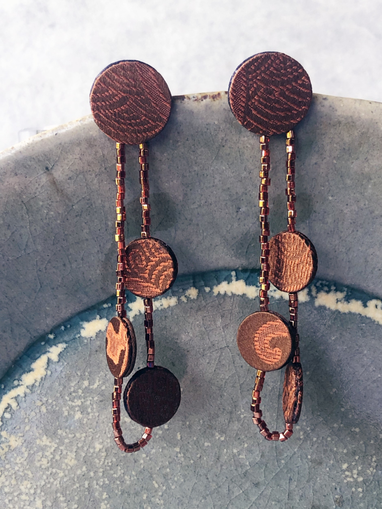 Earring-Elsa-unique-piece-textile-jewelry-gift-accessory-designer-valerie-hangel-geneva