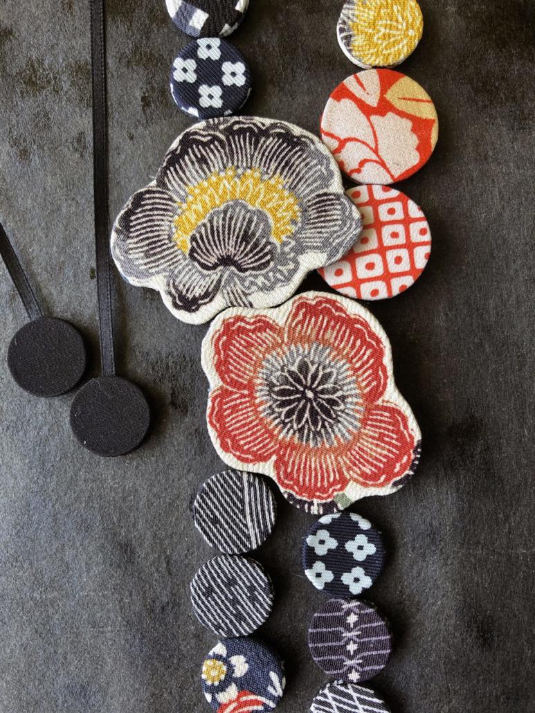 necklace-handmade-silk-kimono-textile-jewelry-valerie-Hangel-Carouge-galerie-h-geneva