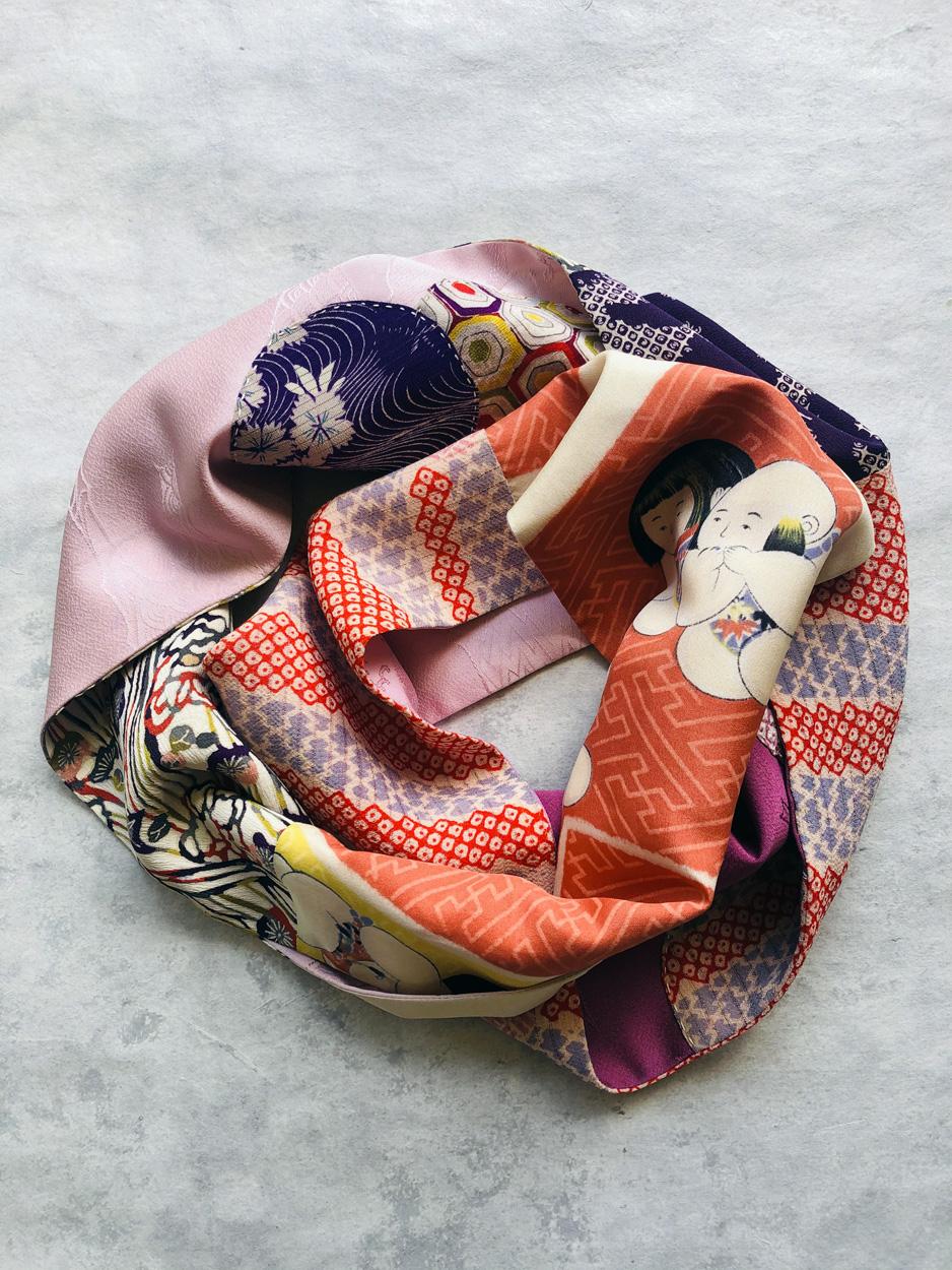 echarpe-patchwork-accessoire-femme-soie-kimono-galerie-h-valerie-Hangel-Carouge-Geneve
