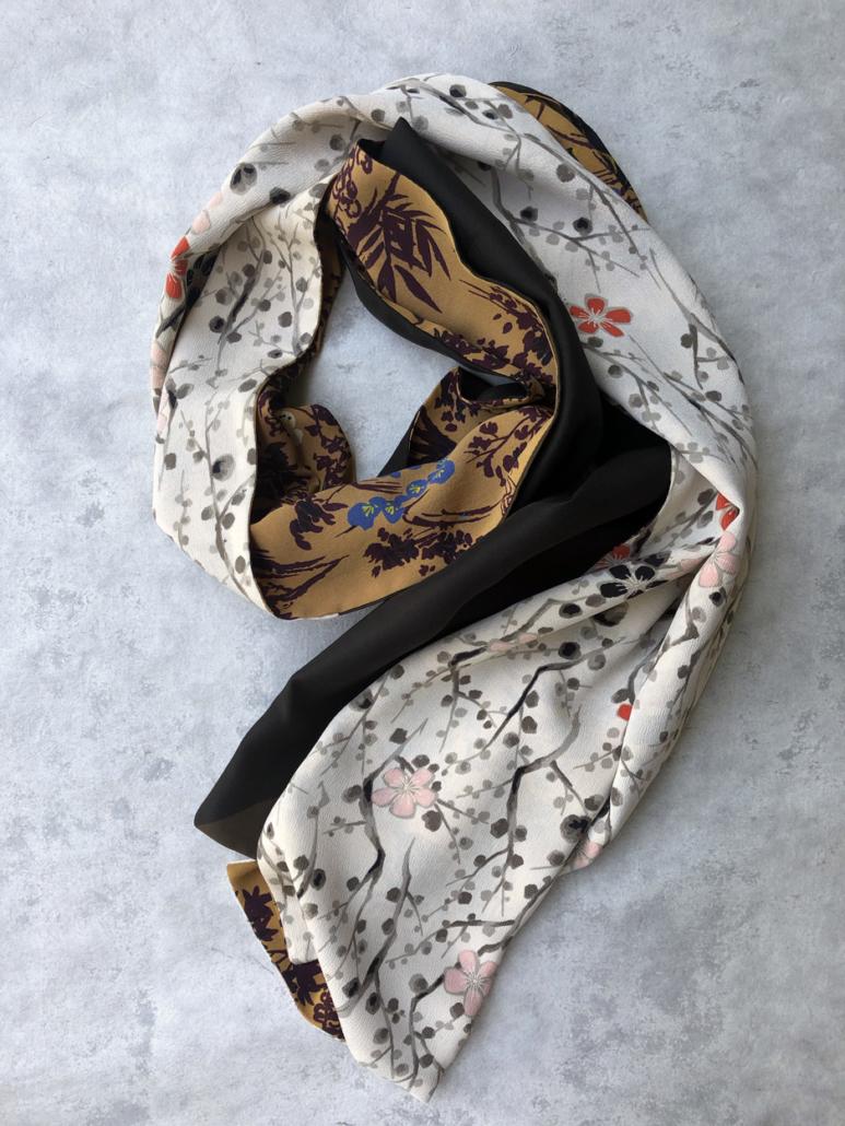 echarpe-nuit-rousse-en-soie-kimono-ancien-piece-unique-accessoire-mode-carre-foulard-creation-Valerie-Hangel-geneve