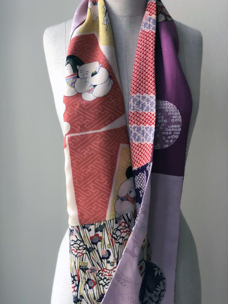 Scarf-silk-vintage-japanese-fabrics-fashion-designer-Valerie-Hangel-Geneva