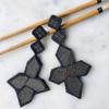 textile-earrings-star-fashion-design-kimono-vintage-valerie-hangel-galerie-h-geneva-carouge